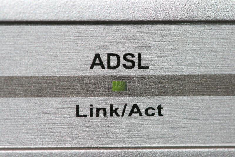Indicateur d'ADSL photos stock