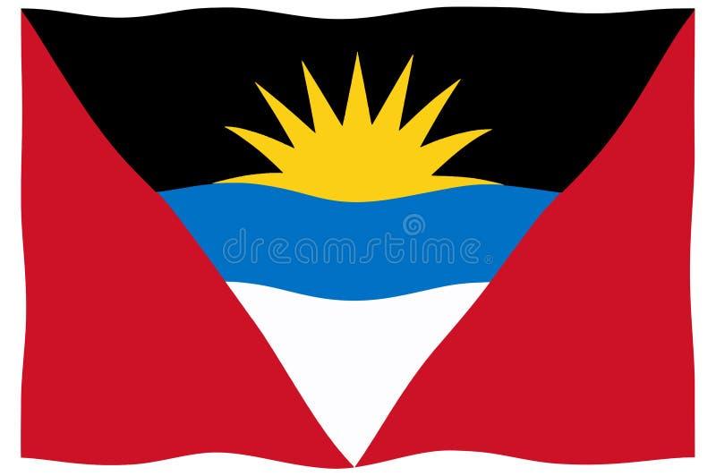 Indicateur d'Antigua et de Barbuda illustration libre de droits