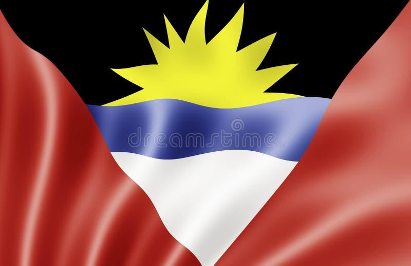 Indicateur d'Antigua et de Barbuda illustration de vecteur