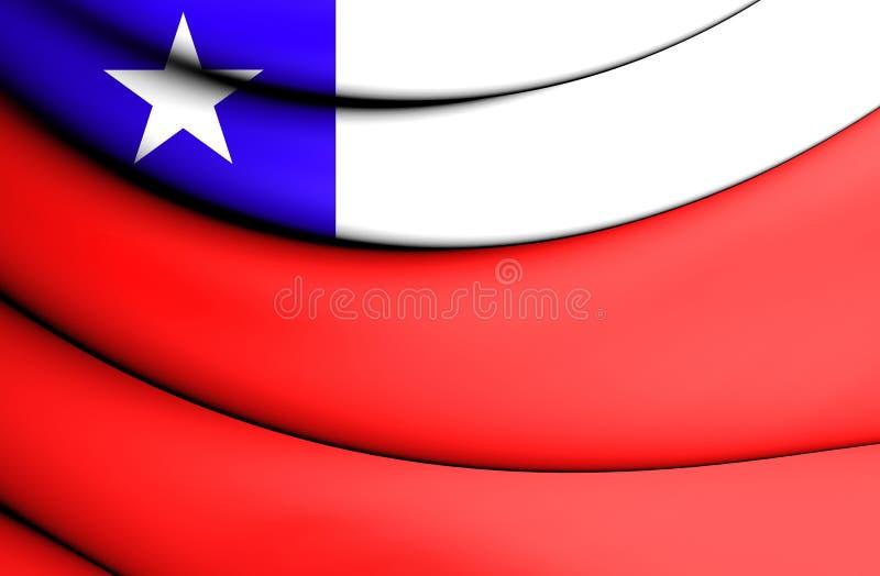 indicateur 3D du Chili illustration libre de droits