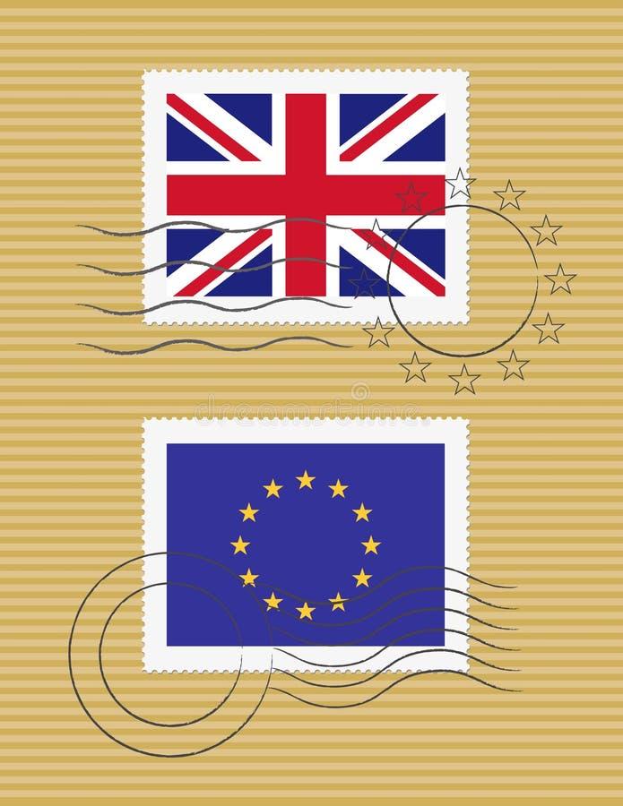 Indicateur d'estampille du Royaume-Uni illustration de vecteur