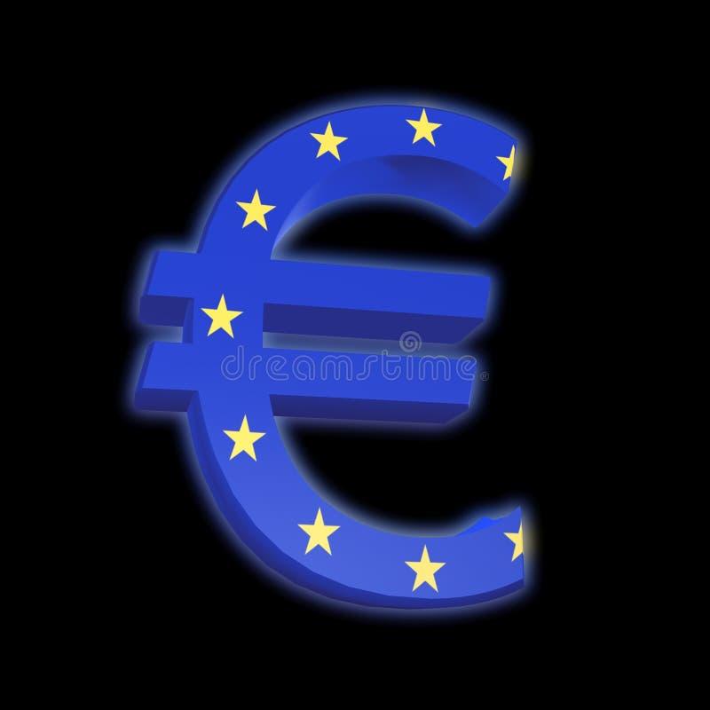 indicateur d'euro d'Eu illustration stock