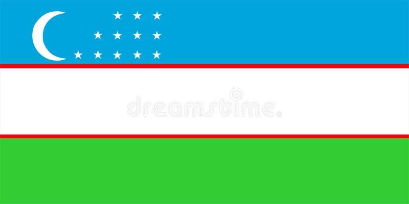 Indicateur d'Uzbekistan illustration stock