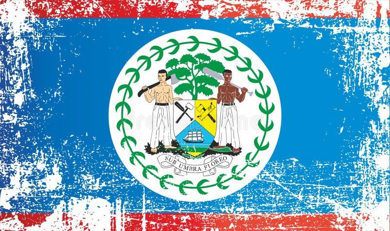 indicateur de Belize l'Am?rique Centrale Taches sales froissées illustration stock