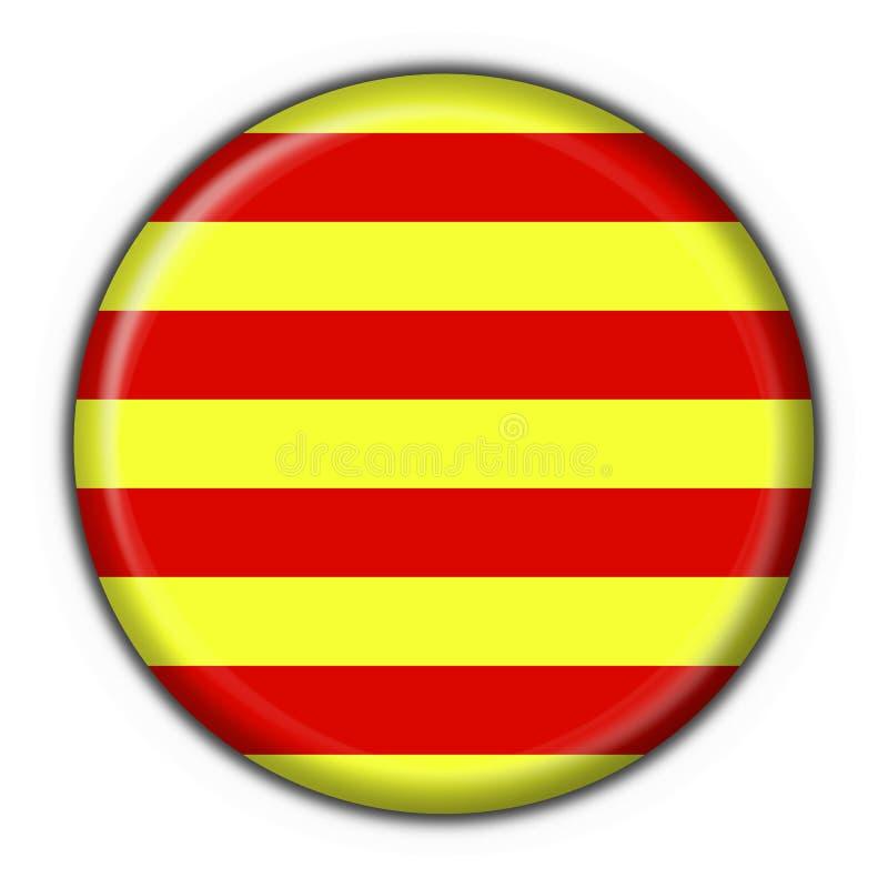 Indicateur de bouton de la Catalogne rond   illustration stock