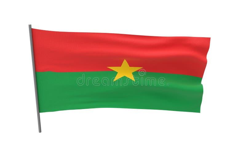 Indicateur de Burkina Faso illustration stock