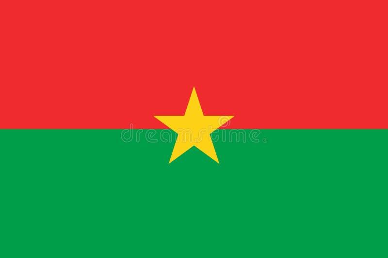Indicateur de Burkina Faso On observe des rapports et les couleurs photographie stock