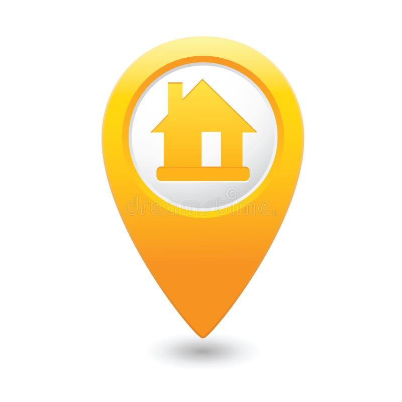 Indicateur de carte avec l'icône à la maison illustration libre de droits
