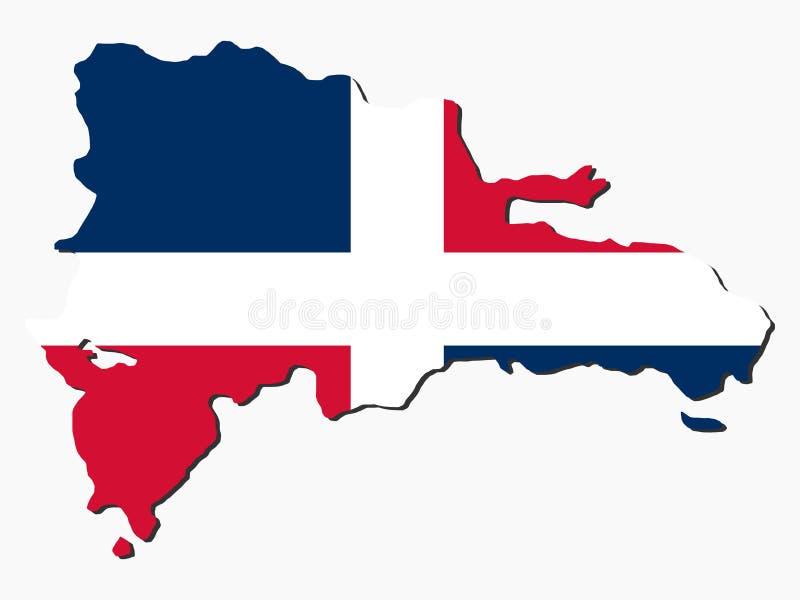 Indicateur de carte de la république dominicaine illustration libre de droits