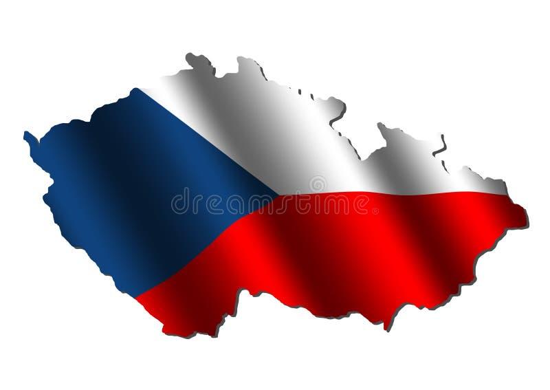 Indicateur de carte de République Tchèque illustration libre de droits