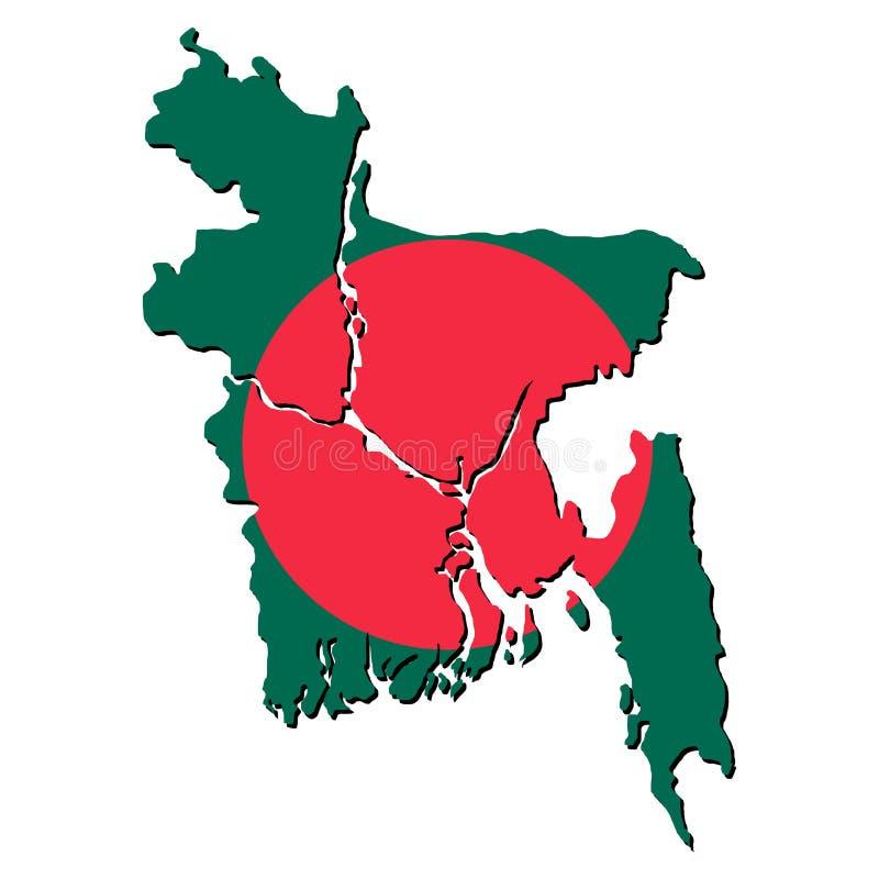 Indicateur de carte du Bangladesh illustration de vecteur