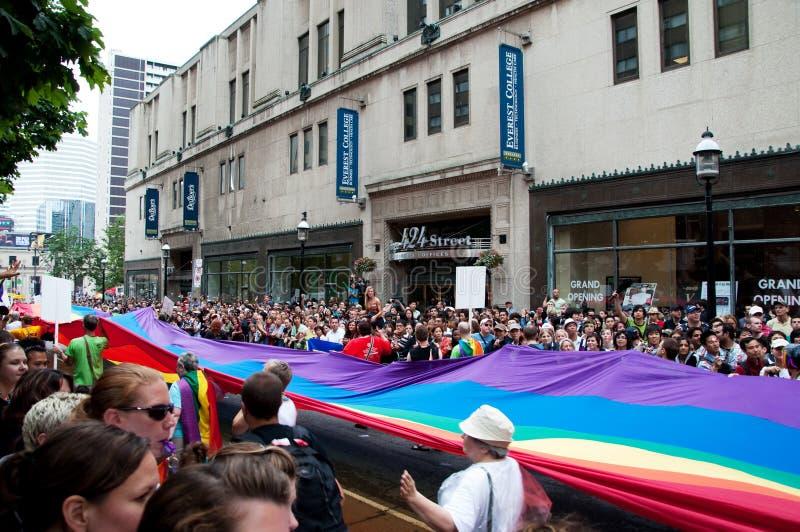Indicateur de défilé de fierté image libre de droits