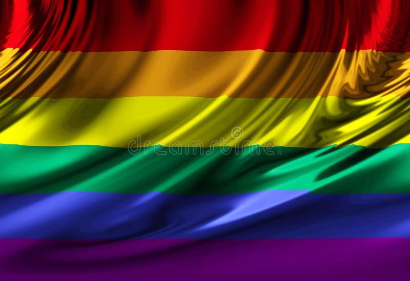 Indicateur de fierté homosexuelle illustration de vecteur