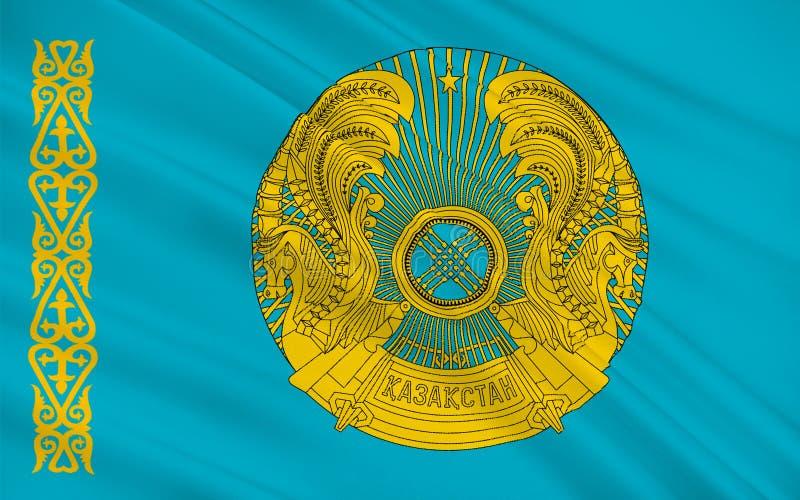 Indicateur de Kazakhstan illustration stock