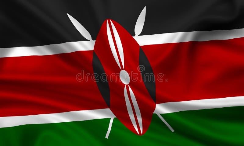 Indicateur de kenia illustration libre de droits