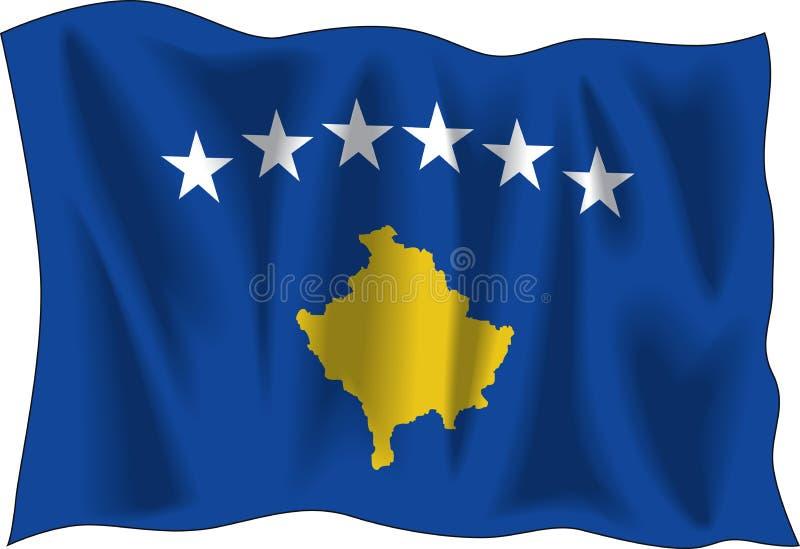 Indicateur de Kosovo illustration de vecteur