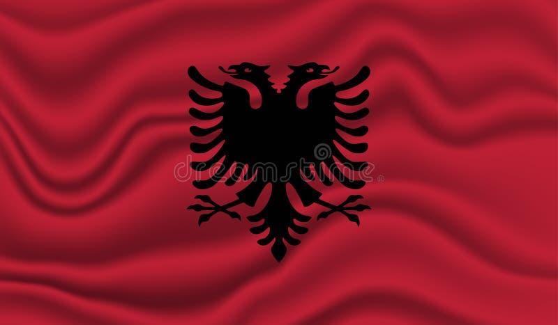 indicateur de l'Albanie illustration libre de droits