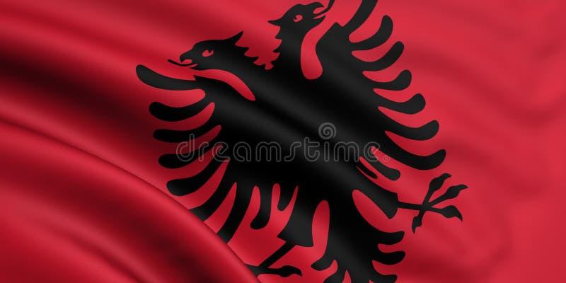 Indicateur de l'Albanie illustration de vecteur