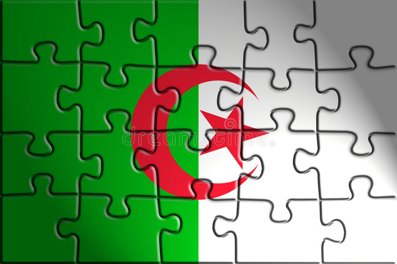 Indicateur de l'Algérie illustration stock