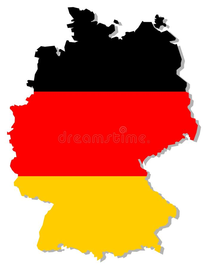 Indicateur De L Allemagne à L Intérieur De Cadre De Pays Photos stock