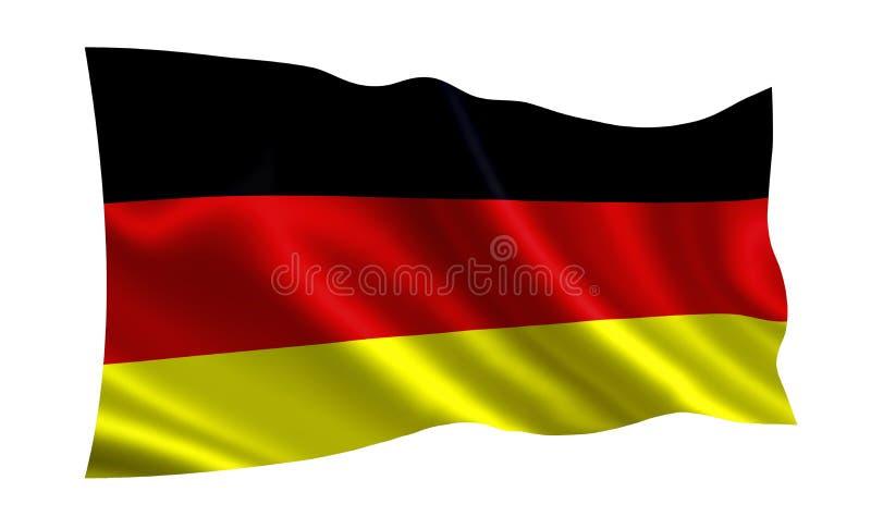Indicateur de l'Allemagne Une série de drapeaux de ` du monde ` Le pays - drapeau de l'Allemagne illustration stock