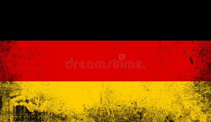 Indicateur de l'Allemagne Vieux fond grunge patriotique de texture de cru illustration de vecteur