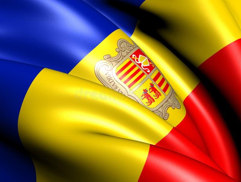 Indicateur de l'Andorre illustration libre de droits