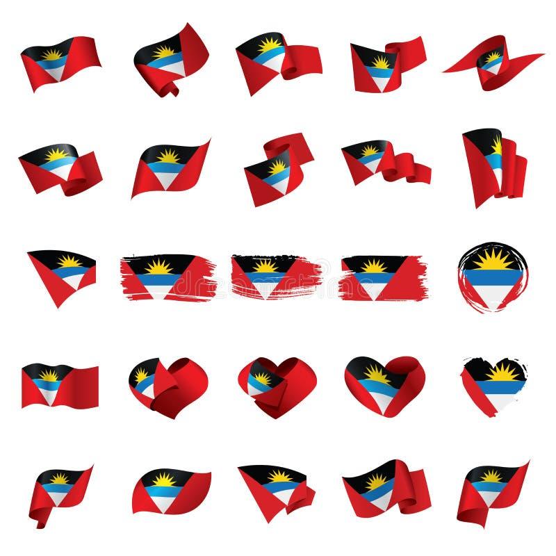 Indicateur de l'Antigua et du Barbuda illustration stock