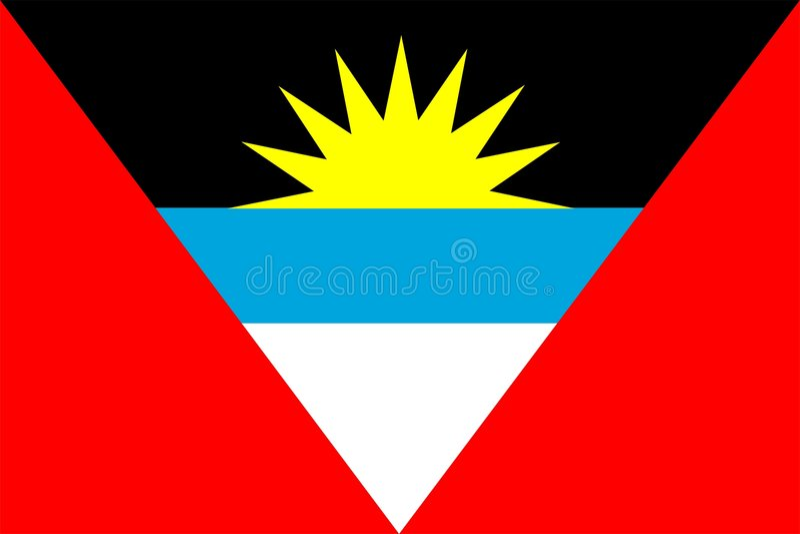 Indicateur de l'Antigua et du Barbuda illustration de vecteur