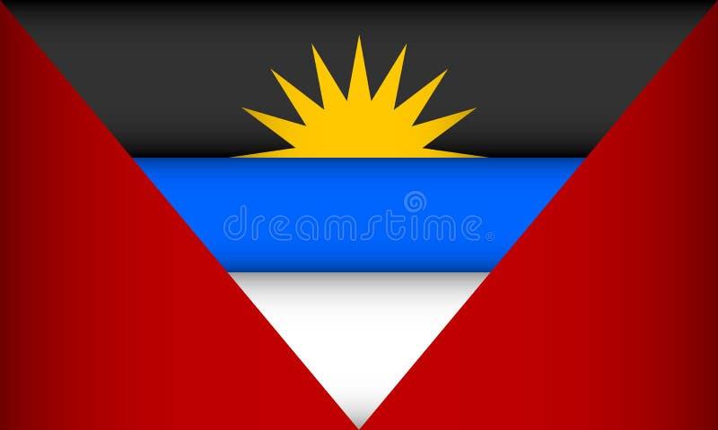 Indicateur de l'Antigua et du Barbuda illustration libre de droits