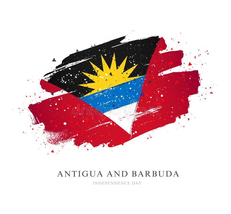 Indicateur de l'Antigua et du Barbuda Illustration de vecteur illustration stock