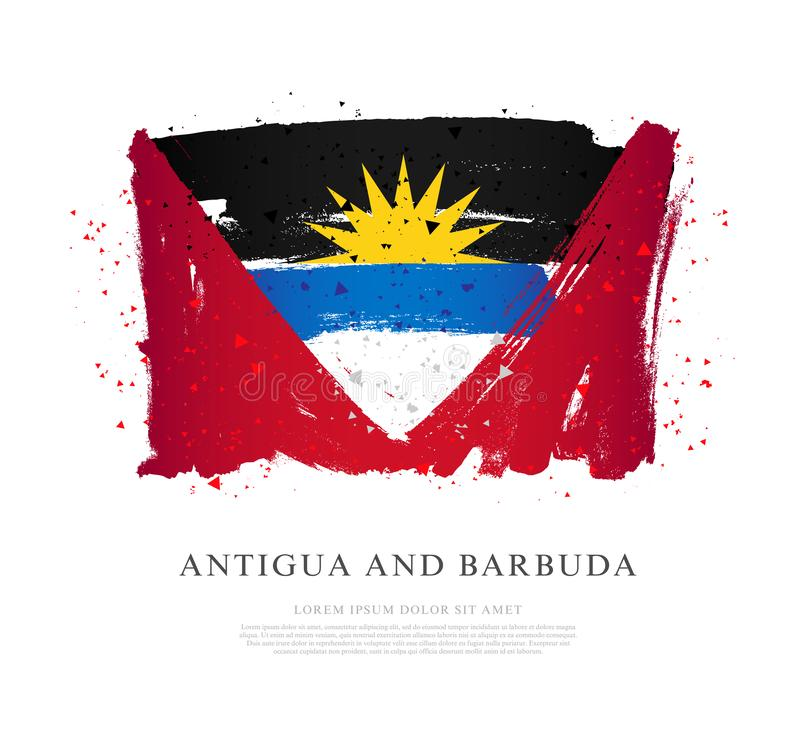 Indicateur de l'Antigua et du Barbuda Rappes de balai illustration de vecteur