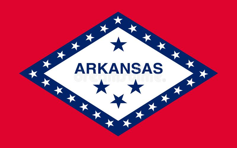 Indicateur de l'Arkansas, Etats-Unis photos stock