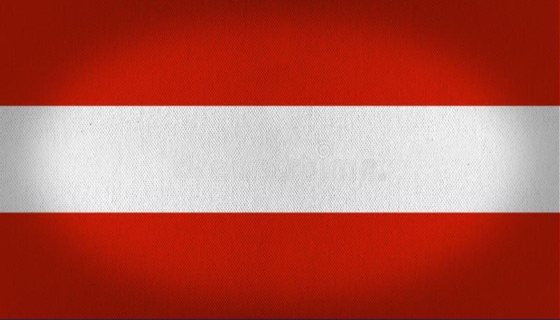 Indicateur de l'Autriche illustration stock