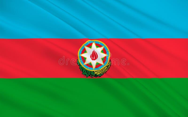 indicateur de l'Azerbaïdjan illustration stock