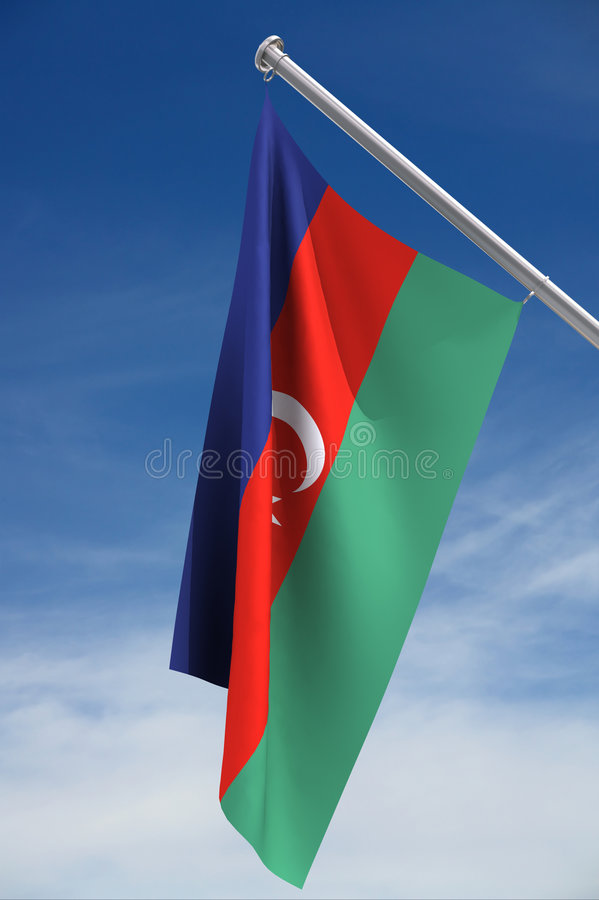 Indicateur de l'Azerbaïdjan   illustration de vecteur
