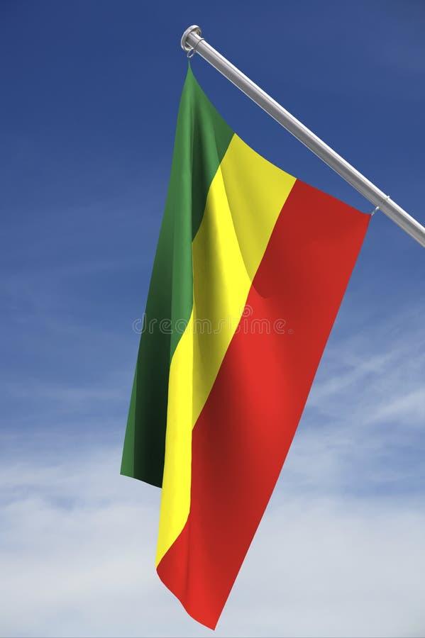 Indicateur de l'Ethiopie avec le chemin de découpage images libres de droits