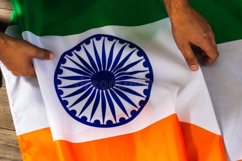 Indicateur de l'Inde 15 août Jour de la Déclaration d'Indépendance de la République d'I photo stock