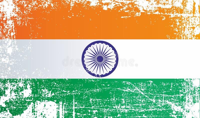 Indicateur de l'Inde Taches sales froissées illustration de vecteur