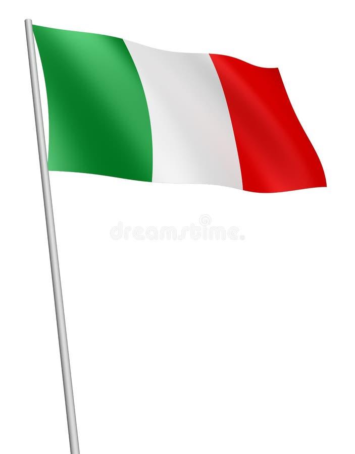Indicateur de l'Italie/d'isolement illustration stock