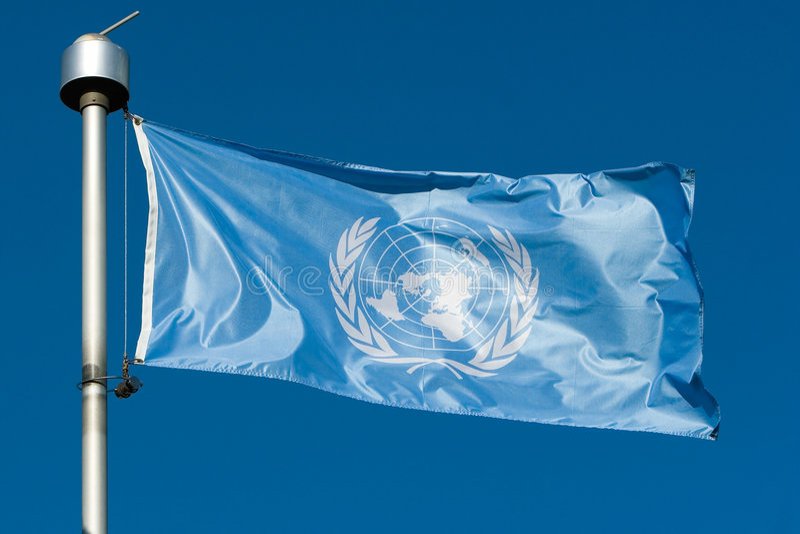 Indicateur de l'ONU images stock