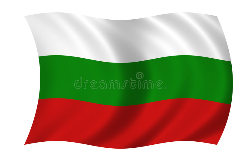 Indicateur de la Bulgarie illustration stock