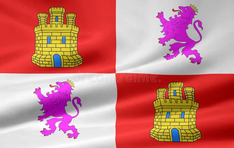 Indicateur de la Castille y Leon - Espagne illustration libre de droits