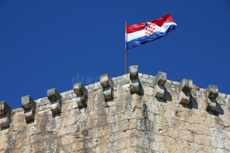 Indicateur de la Croatie photographie stock libre de droits