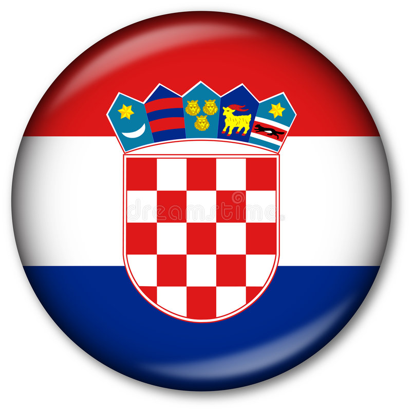 indicateur de la Croatie de bouton illustration de vecteur