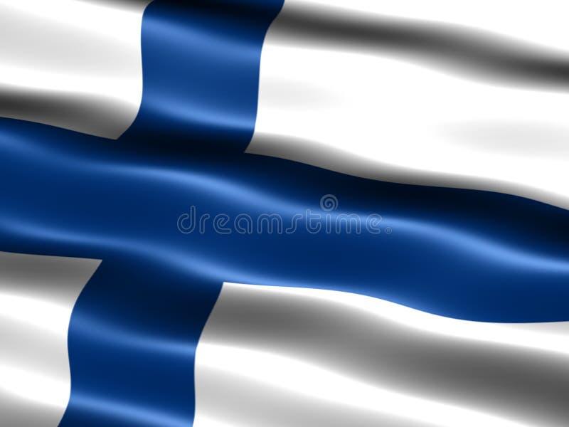 Indicateur de la Finlande illustration de vecteur