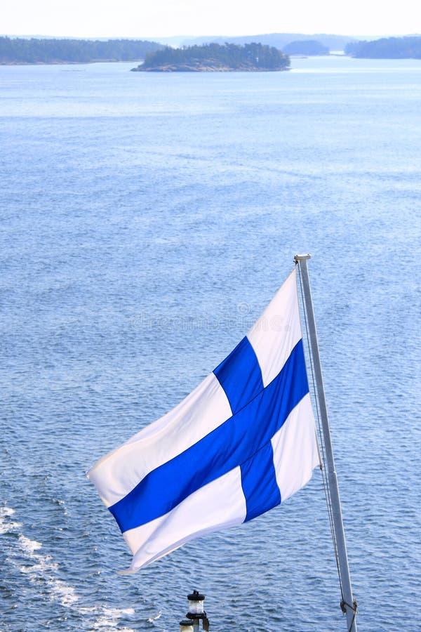 Indicateur de la Finlande photo libre de droits