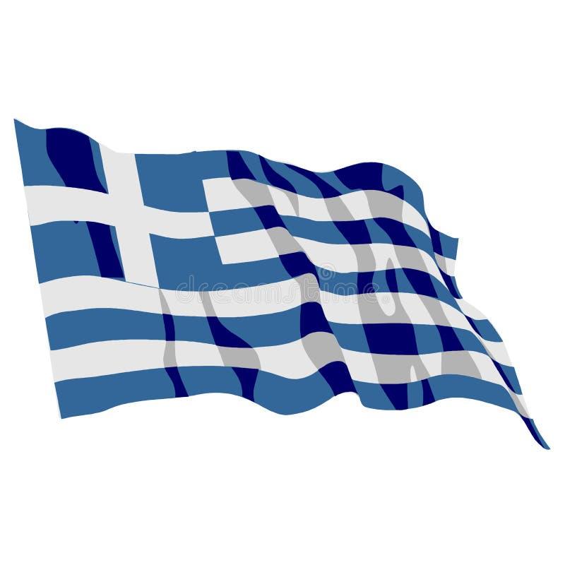 Indicateur de la Grèce illustration de vecteur