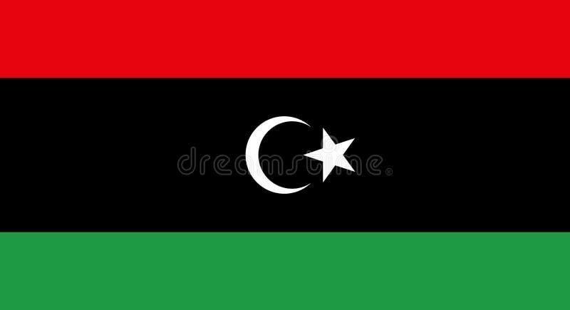 Indicateur de la Libye illustration libre de droits