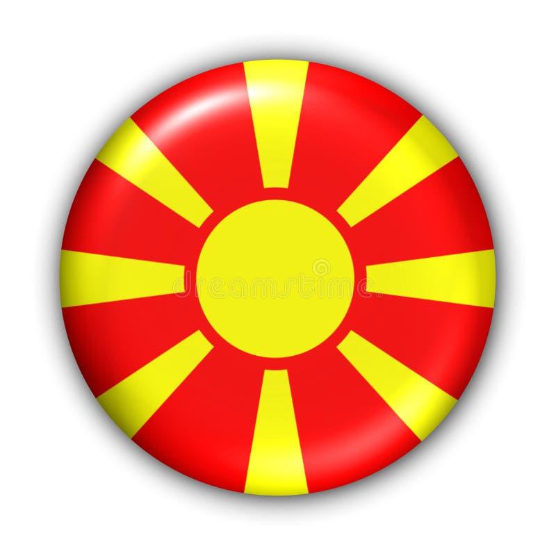 Indicateur de la Macédoine illustration stock